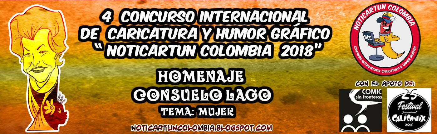 Convocatoria del 4 concurso internacional de caricatura y humor grafico -NOTICARTUN COLOMBIA- 2018