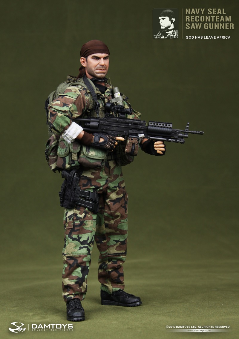 FORTY42: DAM Toys 1/6 scale US Navy SEAL Recon team SAW GunnerTears Of The Sun Team