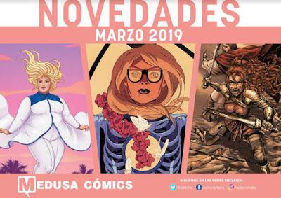 """Novedades marzo 2019 de """"Medusa Cómics""""."""