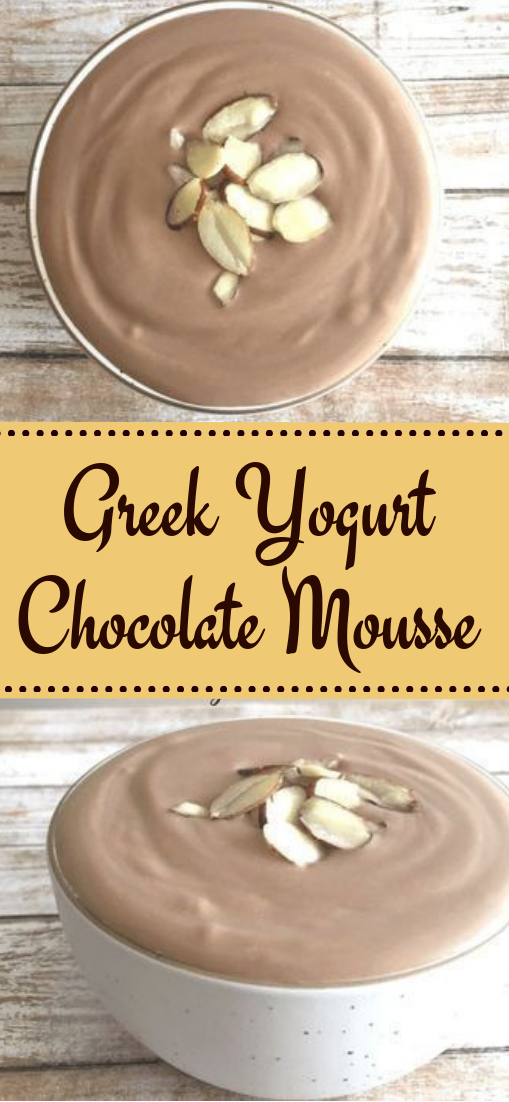 Greek Yogurt Chocolate Mousse #dessert #breakfast