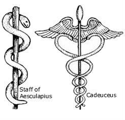 asclepio, caduceo