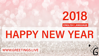 Fair looking Happy New Year 2018 Greetings in English Language