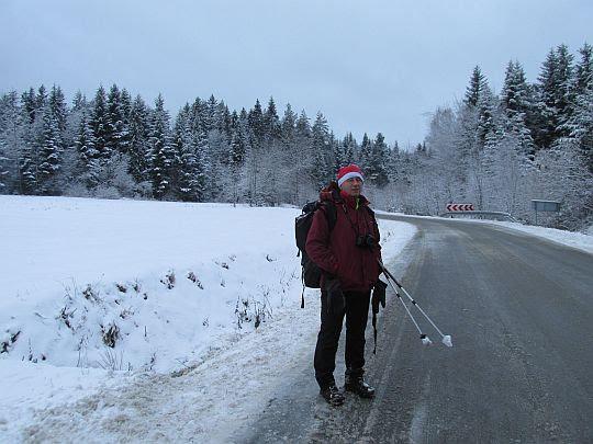 W drodze na przełęcz.
