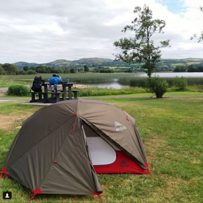 our wee tent in Fermanagh - photo by A. Gault 2018