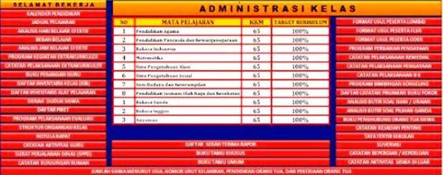 Aplikasi Administrasi Kelas Kurikulum 2013 Terbaru 2017