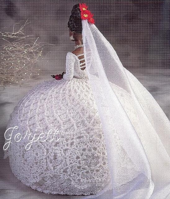 Vestidos de noiva para Barbie - Bridal dresses for barbie dolls - Para inspirar nossas criações 2