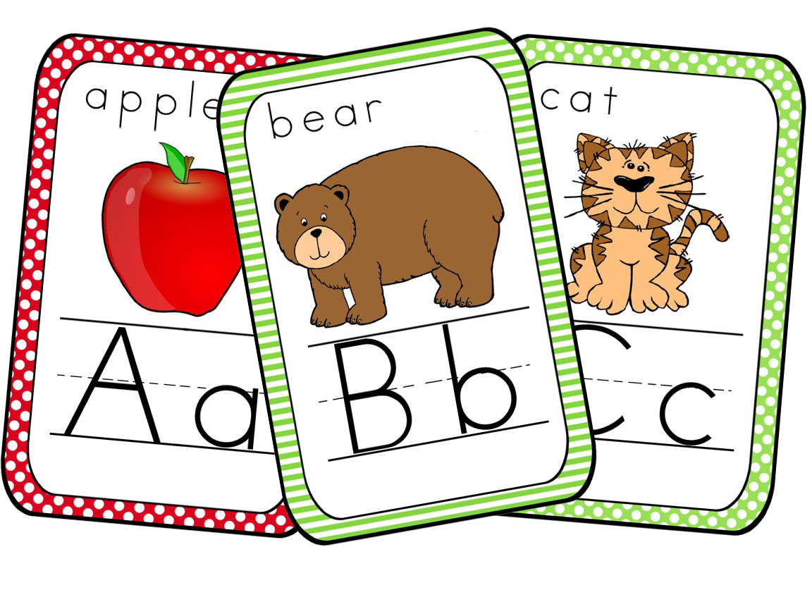 Beautiful Light Bulb Back To School Alphabet Cards Printable