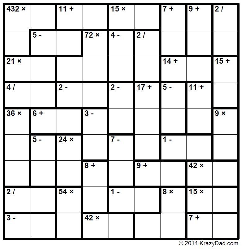 Webster\'s KenKen Puzzle Logic Revealed: 2018