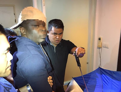 Photos: Nigerian man and his Thai wife arrested for alleged cocaine peddling in Bangkok