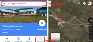 cara memasang alamat di google map