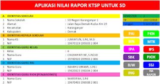 Download Aplikasi Nilai Rapor KTSP SD Terbaru