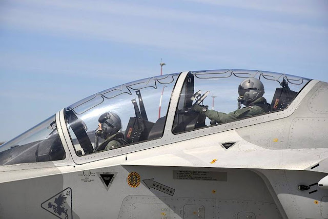 Polish Air Force student pilots fly the M-346 Bielik for the first time