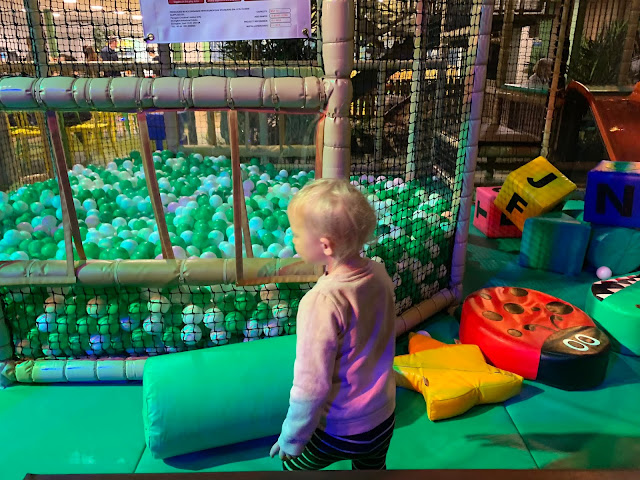 Exploring the toddler soft play area at Dinotropolis