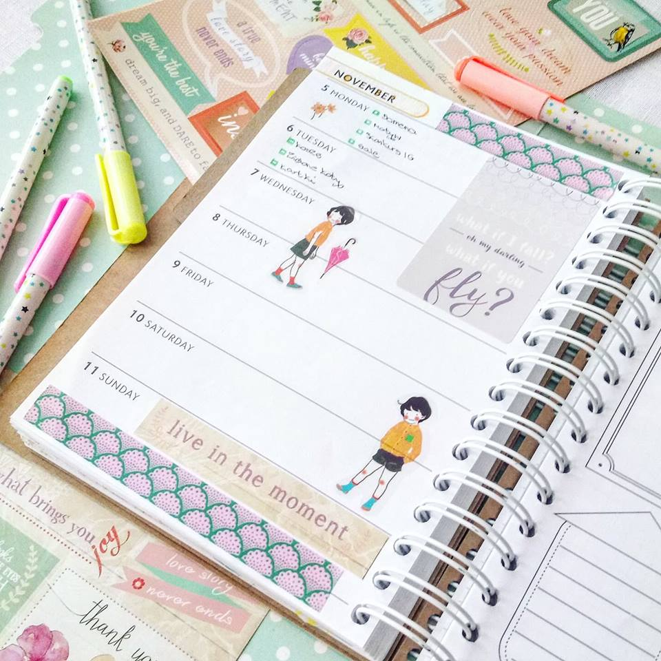 planer, kalendarz, planowanie czasu, planowanie codziennych obowiązków, kolorowy planer, weekely planner