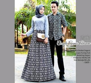 couple gamis batik aksara couple baju batik gamis pakaian batik keluarga