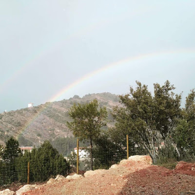 arcoiris, rainbow, Regenbgen, camping, Beceite, Beseit