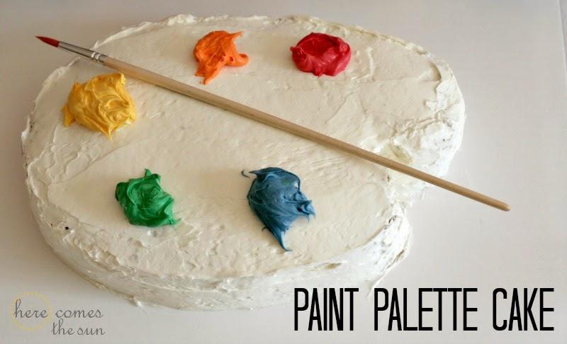 Art Palette Cake Topper