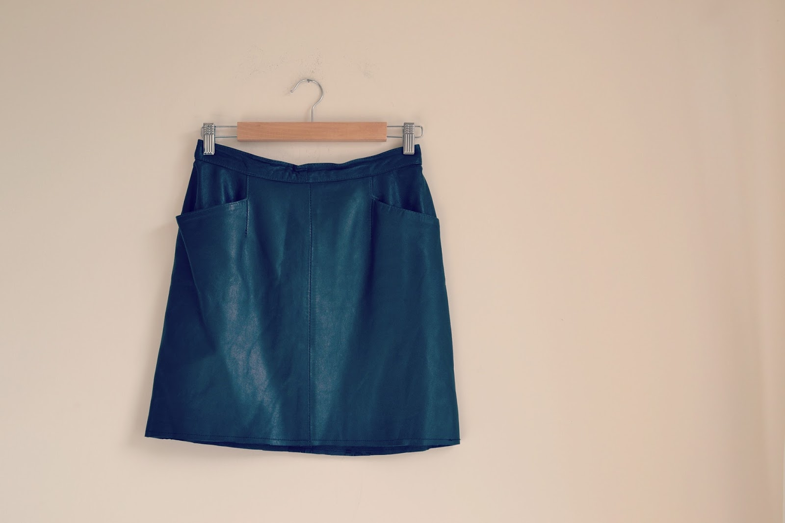 Rise Revival vintage leather skirt