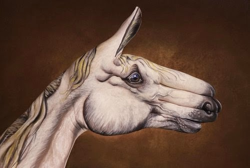 20-Horse-White-On-Brown-Guido-Daniele-Painting-Animals-on-Hands-www-designstack-co