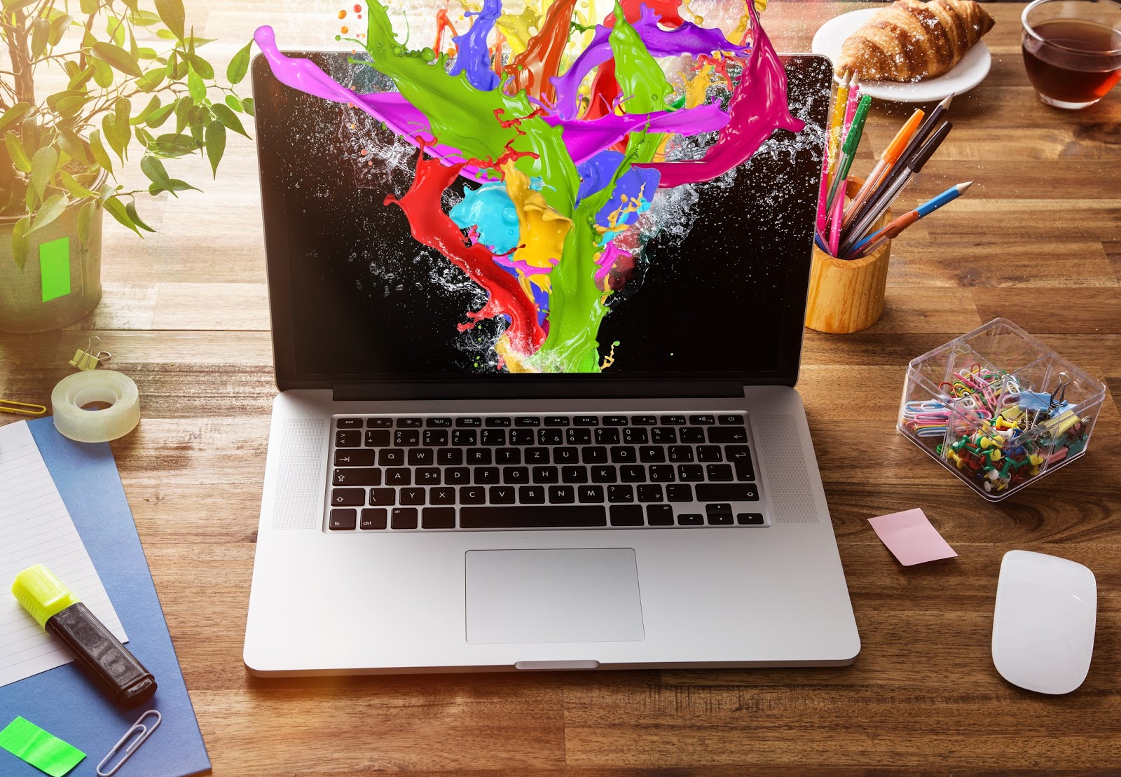 Creative design explodes from this designer's laptop
