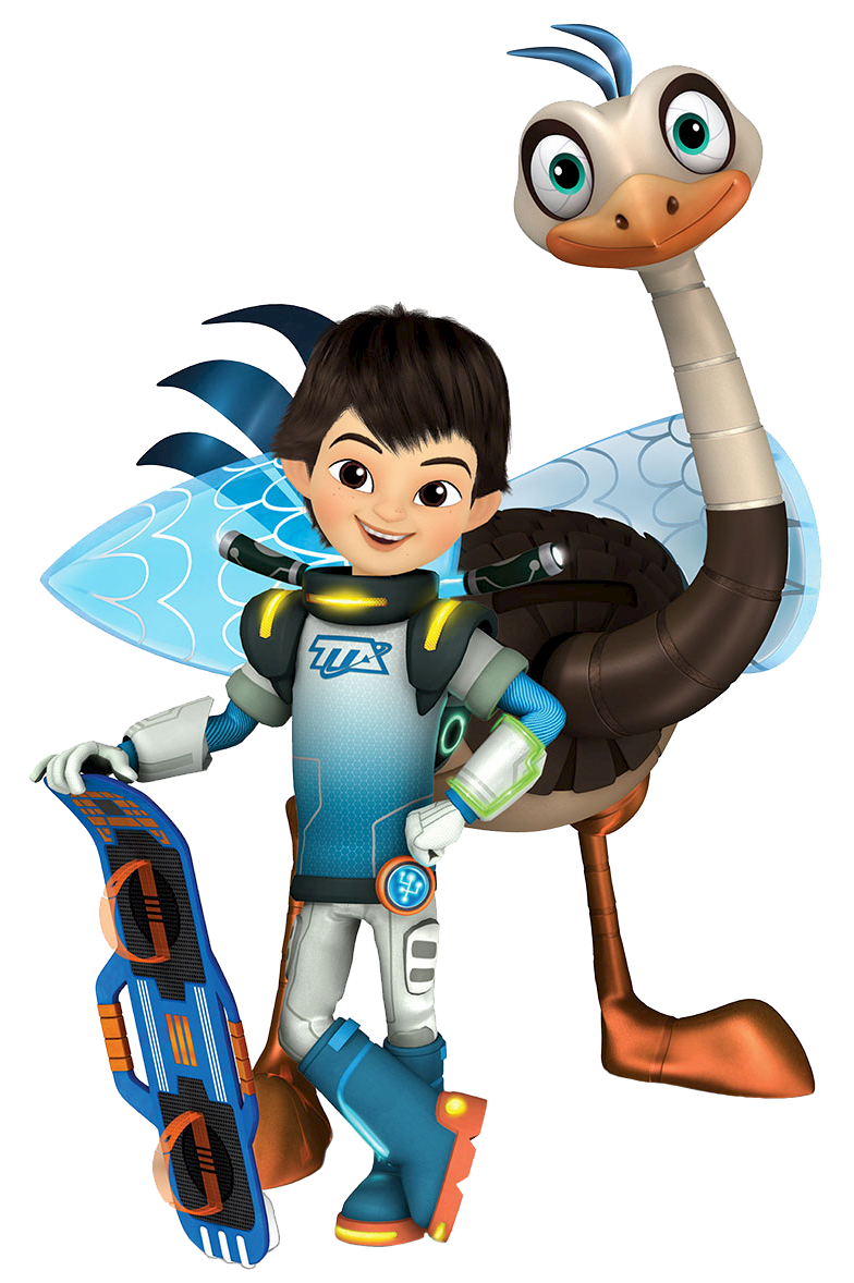 cartoon characters miles from tomorrowland
