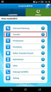 Transfer Uang Lewat m Banking BRISyariah
