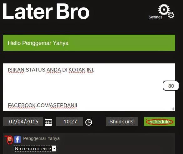 Cara Update Status Facebook dan Twitter Terjadwal Secara Otomatis