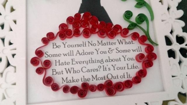 Quilling Art Pajangan Quotes Cantik Penambah Semangat