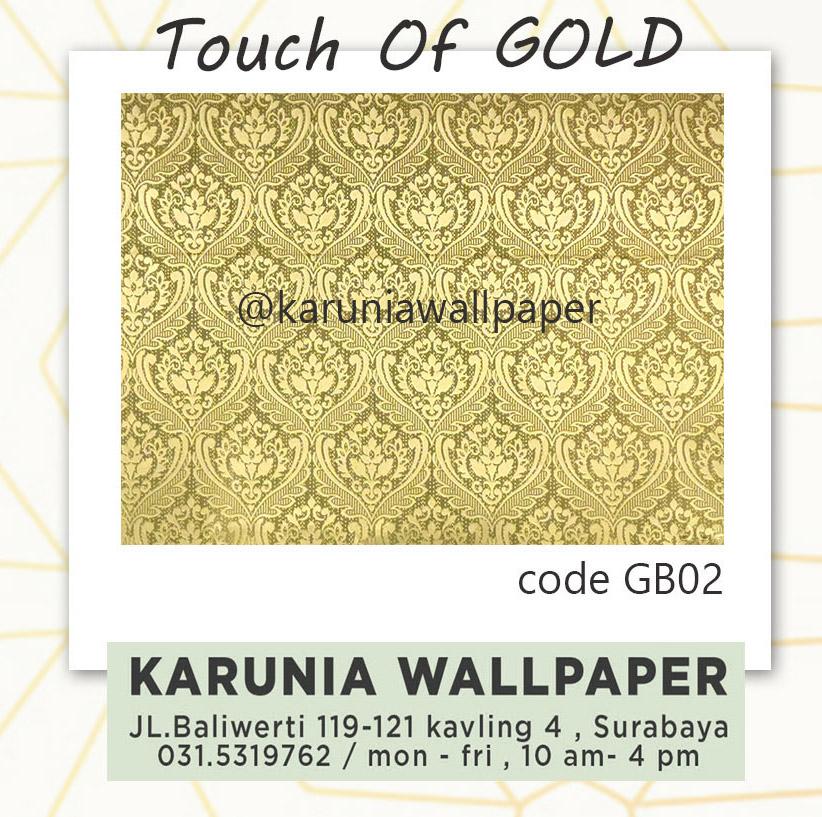 jual wallpaper dinding emas