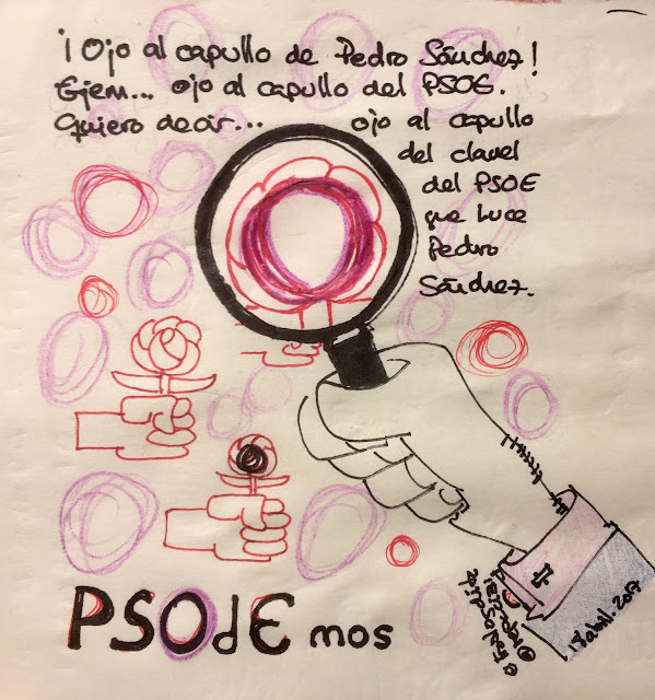 Pedro Sánchez aboga por un PSOE satélite de PODEMOS - Pedro Sánchez = PSOdEmos... (PSOE + PODEMOS) - PSOE - PODEMOS - IZQUIERDA UNIDA - Pedro Sánchez - el troblogdita