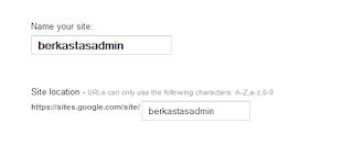 menentukan nama site dan alamat site