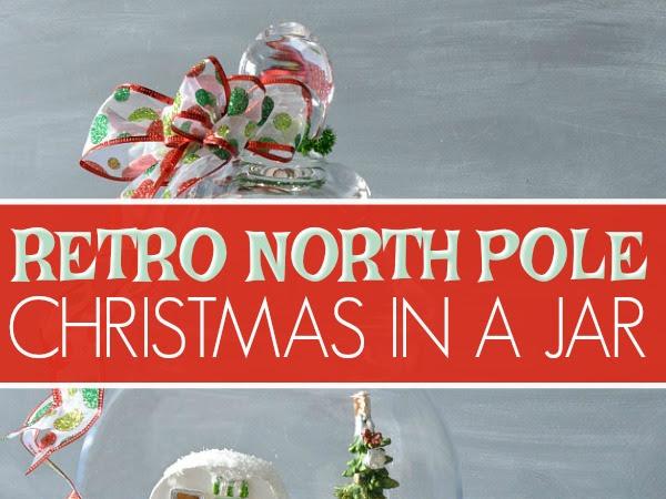 Retro North Pole Christmas Diorama In A Jar