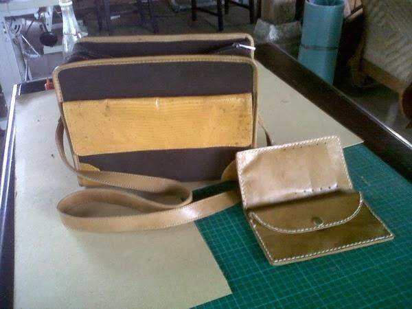 tas dan dompet kulit hasil pelatihan