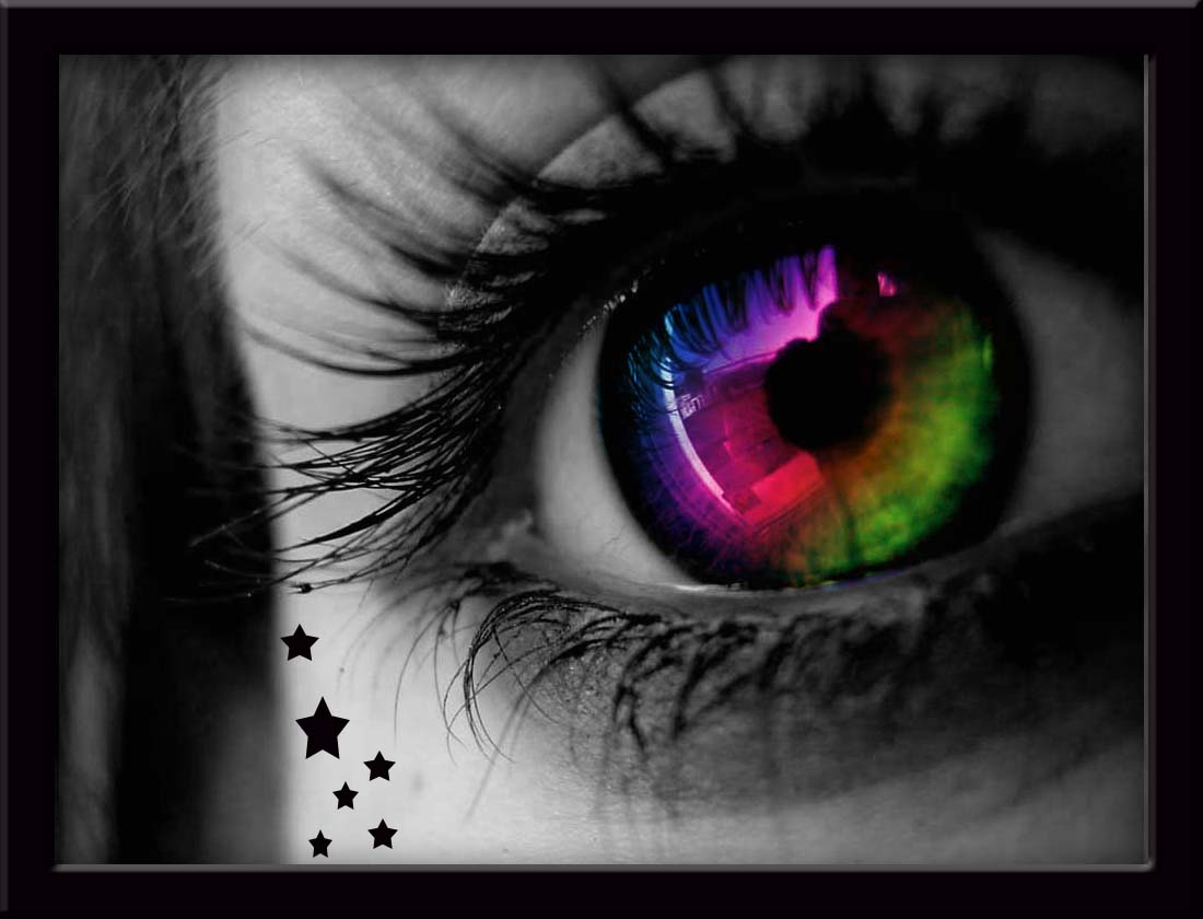 Miracles Happen!: Someday, I'll have a rainbow in my eyes...