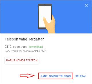 Cara Mengganti Nomor Telepon Verifikasi  Cara Mengganti Nomor Telepon Verifikasi 2 Langkah Gmail