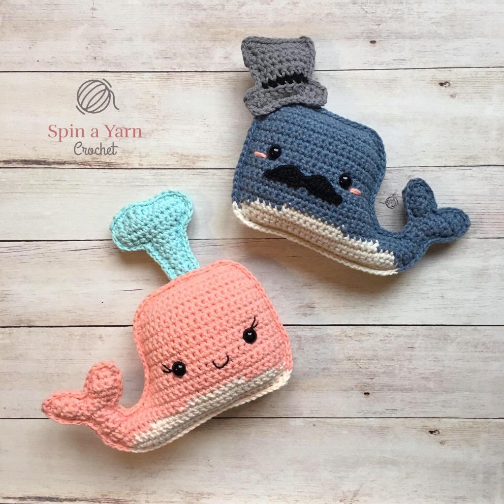 Cute Whale Toy Crochetpattern Schattige Walvis Haakpatroon Bees