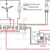 UPS Wiring Inverter Wiring Diagram For Single Room Electrical - Ups Inverter Wiring Diagram