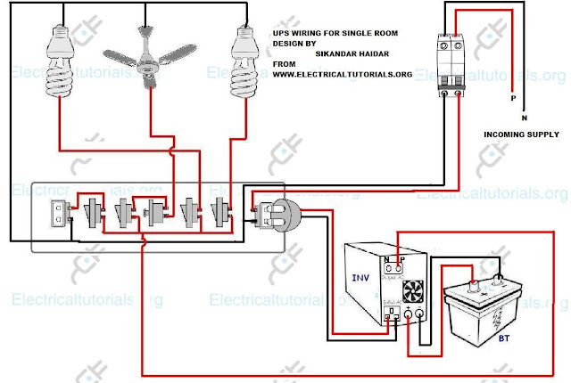 ups wiring inverter wiring diagram for single room electrical tutorials urdu