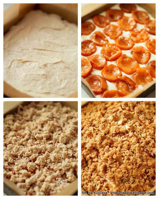 placek orkiszowy, ciasto orkiszowo bialkowe, ciasto orkiszowe, kruszonka kokosowa, ciasto z owocami, placek bialkowy, jak wykorzystac bialka, co zrobic z bialek, nadmiar bialek, bialka jaj, morele, ciasto na niedziele, domowe ciasta, domowe wypieki