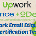 Upwork EMAIL ETIQUETTE CERTIFICATION TEST 2018