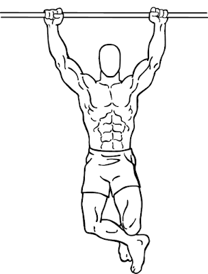 Pull Up exercise for wider lats
