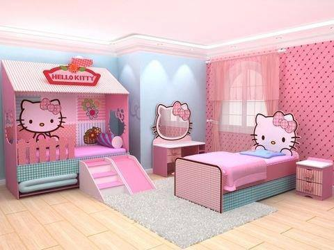 10 Desain Tempat Tidur Serba Hello Kitty Untuk Anak Perempuan 2020 Desain Rumah