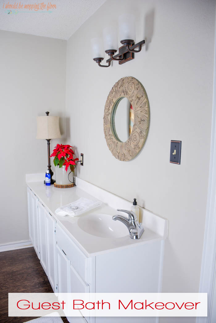 I should be mopping the floor guest bathroom makeover for Guest bathroom makeover