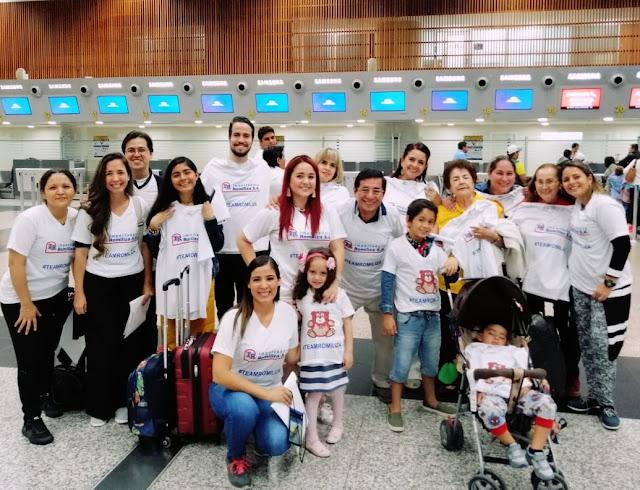 Grupo de viaje en Cartagena, Colombia