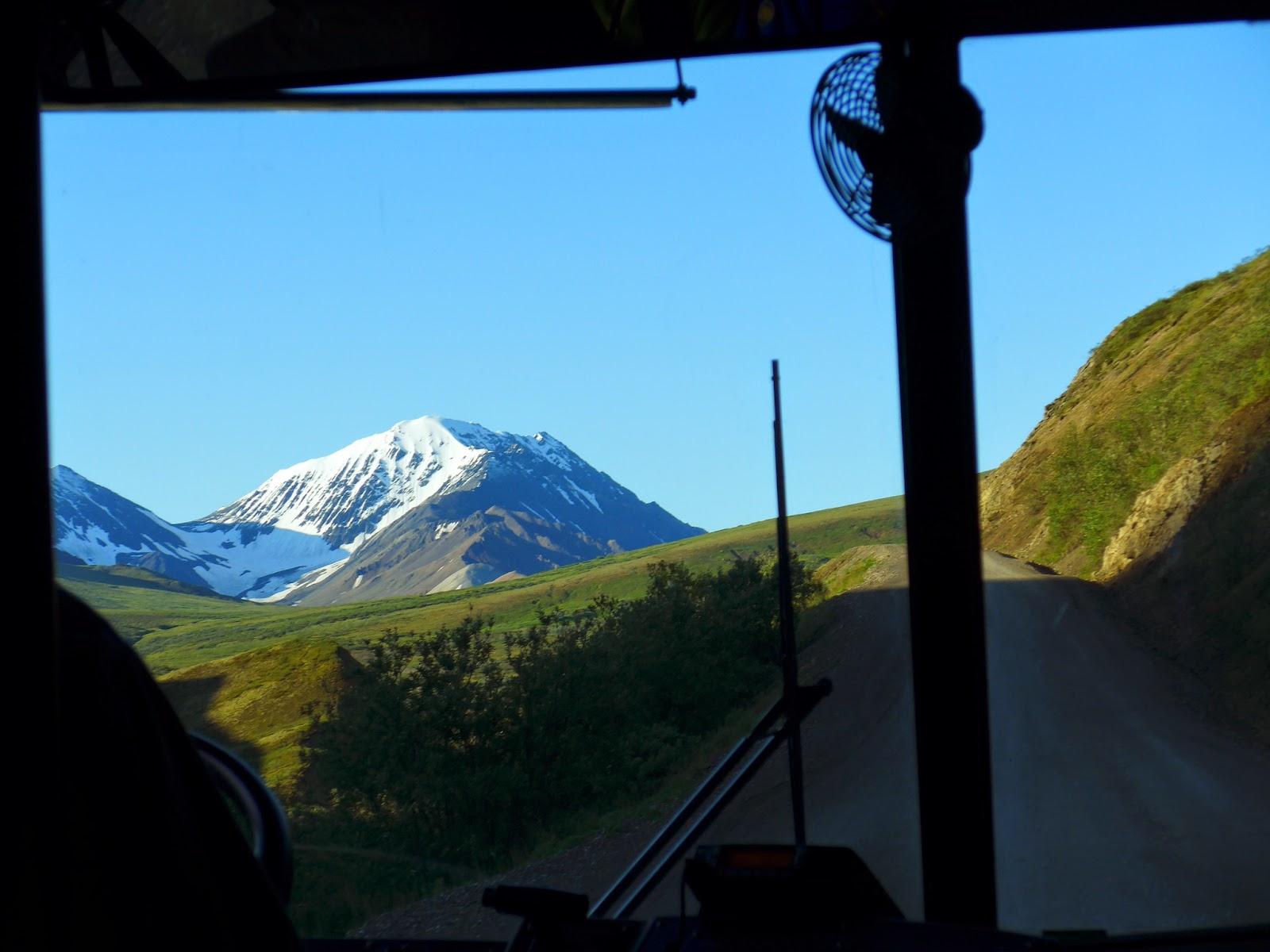 Driving to Eielson, 66 miles into Denali National Park