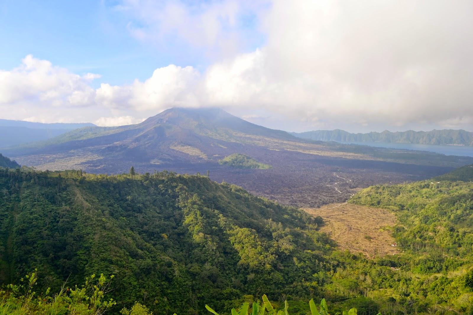 vistas al volcán Batur desde Kintamani, Bali, Indonesia