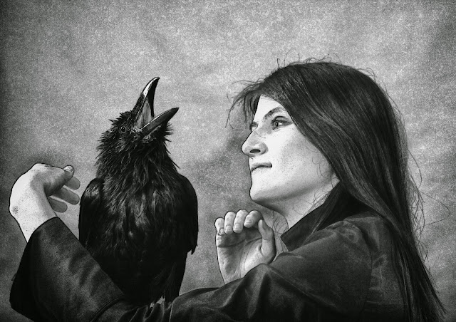 Crow and Woman ©2013 Gloria Gypsy