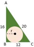 Contoh lingkaran dalam segitiga