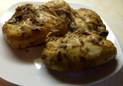 Garlicky Balsamic Baked Chicken Breasts