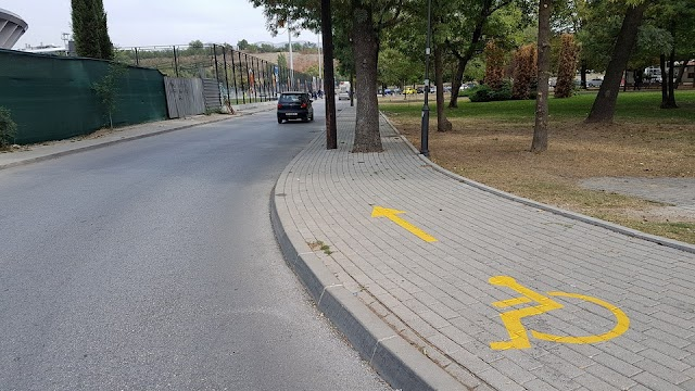 Bild des Tages - Barriere freier Trottoir in Skopje
